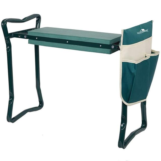 Garden Kneeler and Seat Folding Stainless Steel Garden Stool with Tool Bag EVA Kneeling Pad Gardening Gifts Supply 1