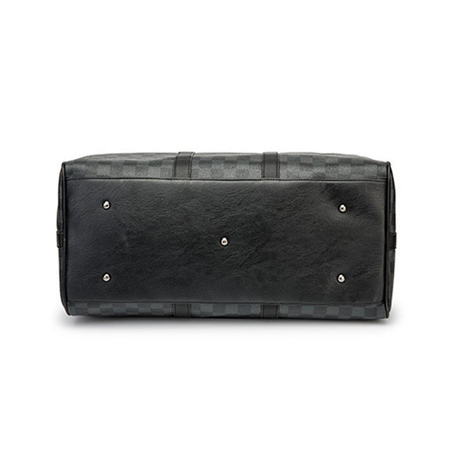 Fashion Travel Bag Men Women Classic PU Leather Luggage Bags Large Capacity Handbags Trip Shoulder Bags Black Plaid Bag Male Hot 5