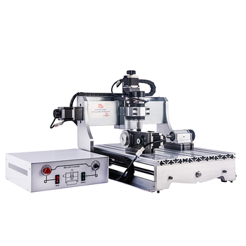 Mini CNC Router 4030 T-D300 Engraving Milling Cutting Machine 4 Axis 2