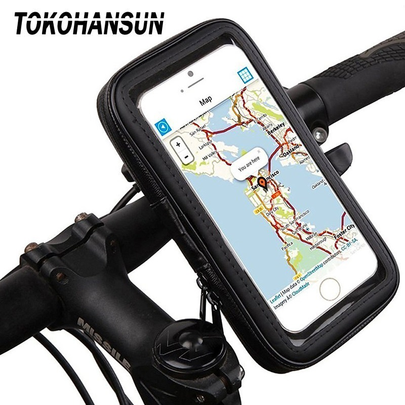 Motorcycle Telephone Holder Support Moto Bicycle Rear View Mirror Stand Mount Waterproof Scooter Motorbike Phone Bag for Samsung|Phone Holders & Stands| |  - title=