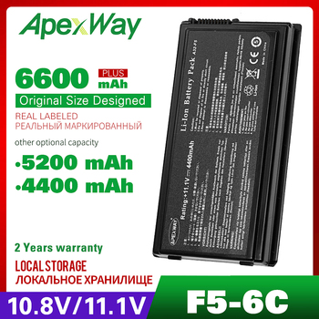 ApexWay High Capcity New Laptop Battery For ASUS X59 A32-F5 X50V X50VL X59 X59Sr F5 F5V F5 F5RI F5SL F5Sr X50R X50RL X50SL X50Sr [] f5 rock