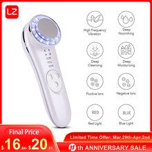 7 in 1 LED Facial Massager Photon Ultrasonic Skin Lifting Wrinkle Remover Anti Aging Tightening Skin Care Tool Beauty Device