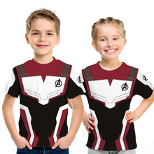 Avengers Endgame Kids 3D T-shirt The 4 Quantum Realm Cosplay Summer Top For Boys Tshirts Girls Clothes Costume Tee Fille