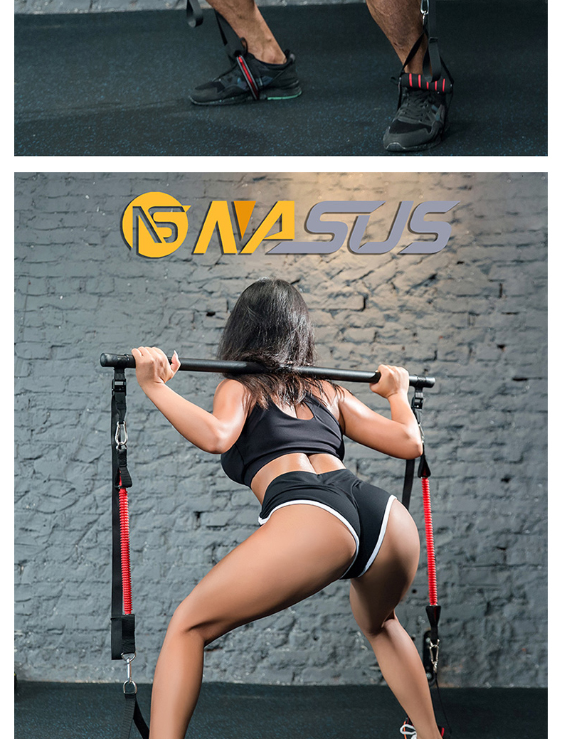 Person - Body Workout Trainer Bar with Resistance Bands