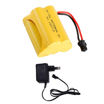 6V 700mAh AA NI-CD Battery pack with Charger set For RC Cars Robots Tanks Truck Gun Boats toys accessory 6V NiCD Battery T model image