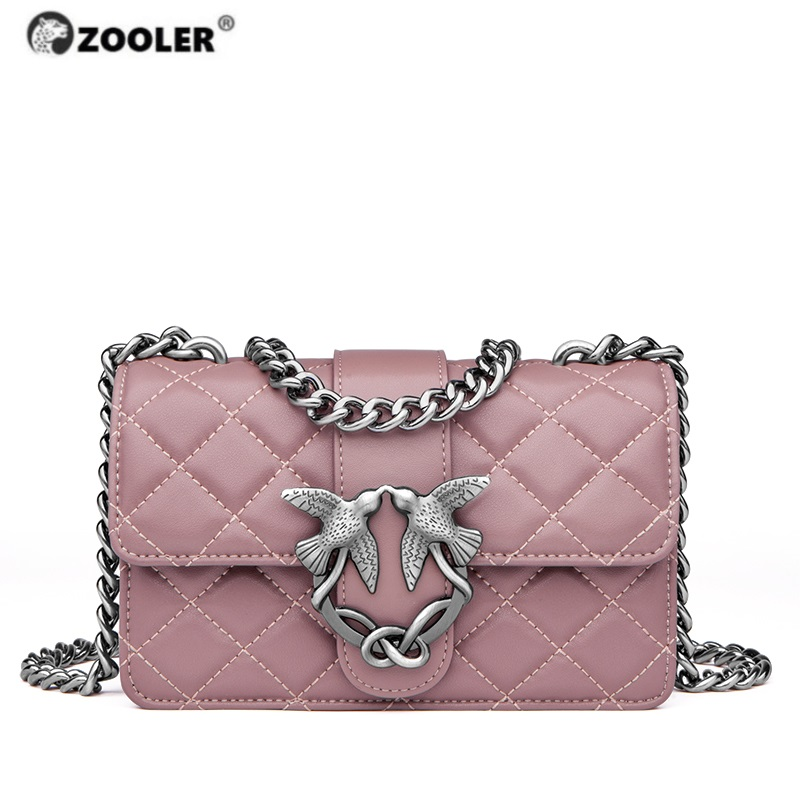 ZOOLER New Exclusively Genuine Leather Women's Shoulder Bags Luxury Designed Woman Bag Ladies Bird Hardware Girls Bags#WF200