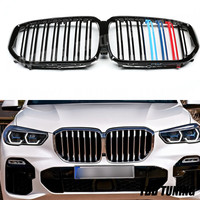 Dual Slats Front Grille For BMW X5 G05 2019 2020 Glossy Black &Three Color X5 G05 Front Grille|Racing Grills|   -