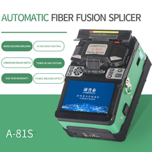 Free Shipping A 81S Green Fully Automatic Fusion Splicer Machine Fiber Optic Fusion Splicer Fiber Optic Splicing Machine