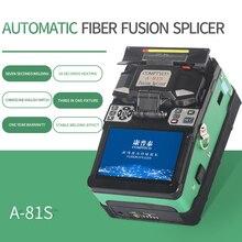 Ücretsiz kargo A 81S yeşil tam otomatik Fusion Splicer makinesi Fiber optik birleştirme aleti Fiber optik ekleme makinesi