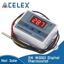 XH-W3002 w3002 ac 110v-220v dc 24v 12v led digital termorregulador termostato controlador de temperatura interruptor de controle medidor