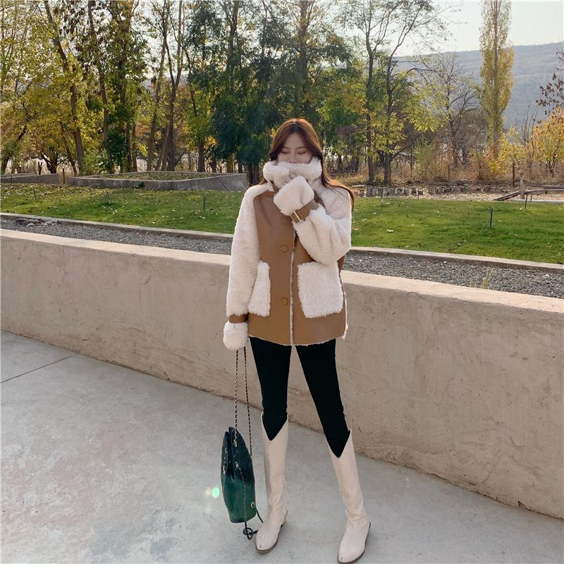 Hd7f243be14f846ea9eb6d55a51f6e0aaA Winter Women High Quality Fur Coat Loose Collar Design Integrated Long Splicing Single-breasted Cotton-padded Pocket Jackets