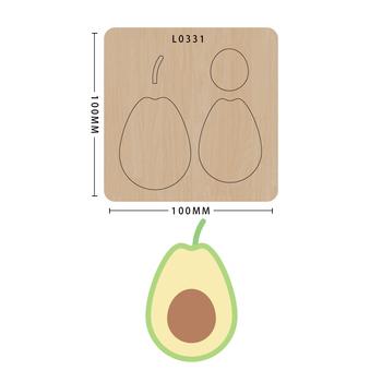 SMVAUON nowe matryce do 2020 r Drewniany szablon do wycinania owoców notatnik do wycinania DIY Handmade tanie i dobre opinie fruit Laser mold