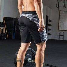 Шорты мужские спортивные с вышивкой быстросохнущие свободные