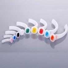 1 tubo de guia de gás misturado do tubo das vias aéreas dos pces para pacientes via aérea oral descartável cor branca codificada guedel tubo para primeiros socorros