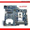 Системная плата PIWG2 LA-6753P REV 1 0  подходит для Lenovo G570  материнская плата для ноутбука HM65  чипсет  с HDMI интерфейсом