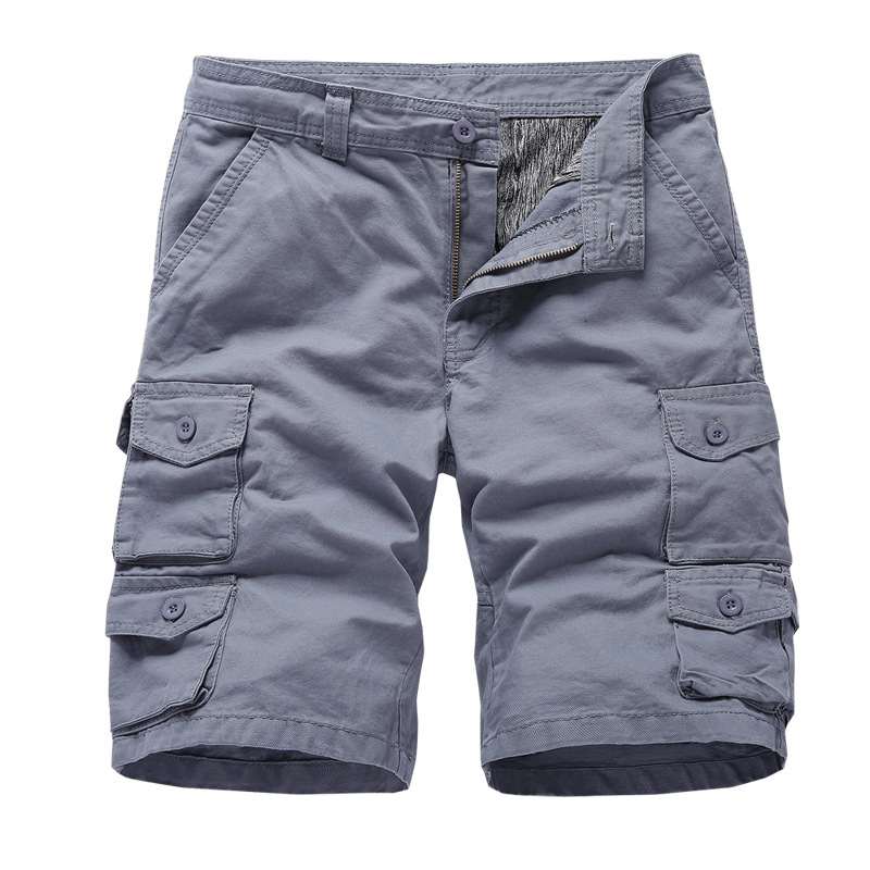 Tide Nice Multi-pocket Men Cargo Shorts Casual Loose Short Pants Solid Camo Military Summer Army Camouflage Tactical Shorts