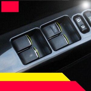 Lsrtw2017 abs кнопки управления окном автомобиля планки для toyota rav4 2012 2013 2014 2015 2016 2017 2018 xa40 хромированные аксессуары