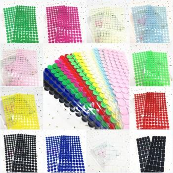 102 pares Velcros adhesivo con Cinta ajustable puntos 10/15/20/25/30mm pegamento fuerte magia pegatina velcro impermeable gancho cinta de bucle