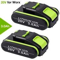 WA3551 20v 3.0Ah Li-ion Rechargeable Battery for Worx WA3551 WA3572 WA3553 WX367 WX550 WX373 for Worx Tools & Powershare Series