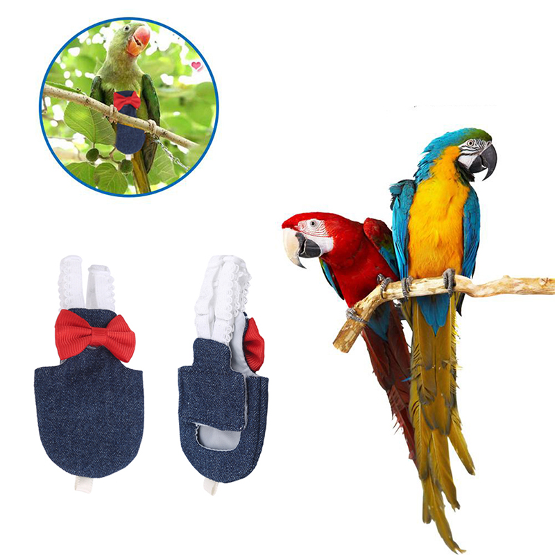 Bird Parrot Diaper Flight Suit Nappy Clothes For Green Cheek Conure Parakeet Cockatiels Pigeons Medium Large Pets Birds