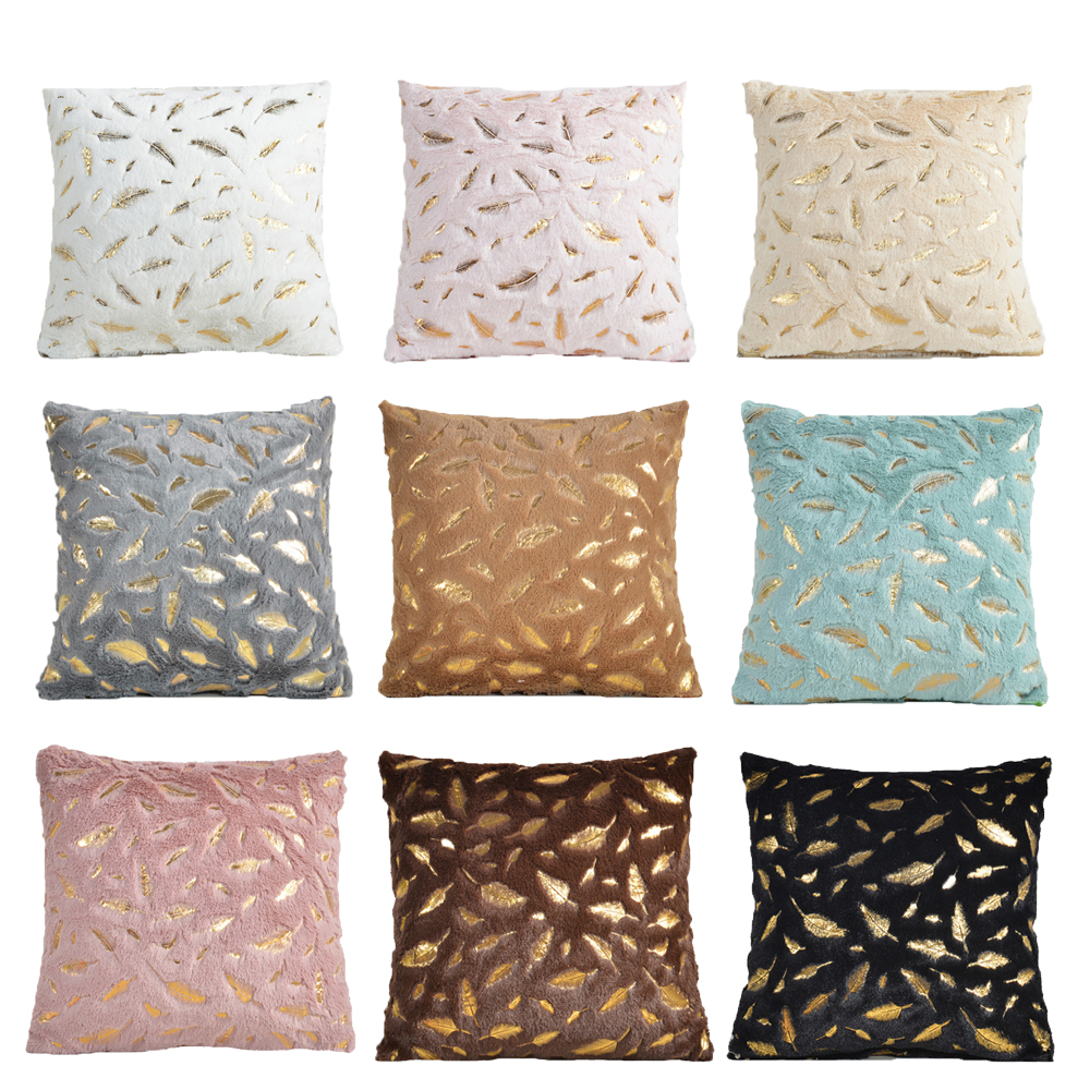 Decorative Pillows Cushion Cover Soft Fur Feather Home Plush Pillow Case Throw Pillow Cover Seat Sofa Bed Decoration Pillowcases