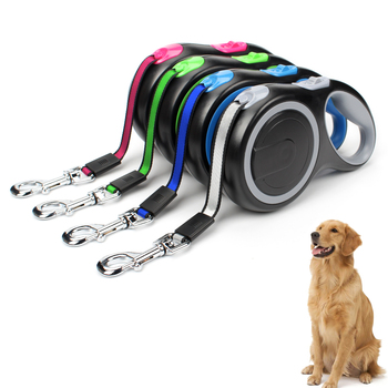 Durable Nylon Retractable & Automatic Leash for Large Dogs