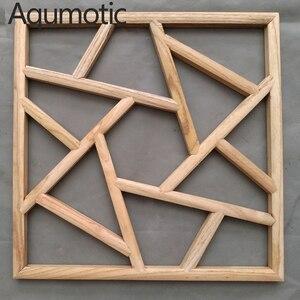 Aqumotic grille en bois manuel   Séparateur de salon séparables, décoration murale arrière-plan suspendu, Style japonais 1 pièce de 40cm