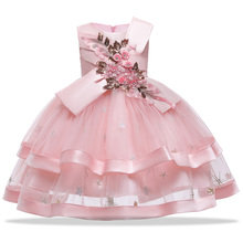 Baby Girls Dress Lace Embroidery Princess Dress Kids Clothes
