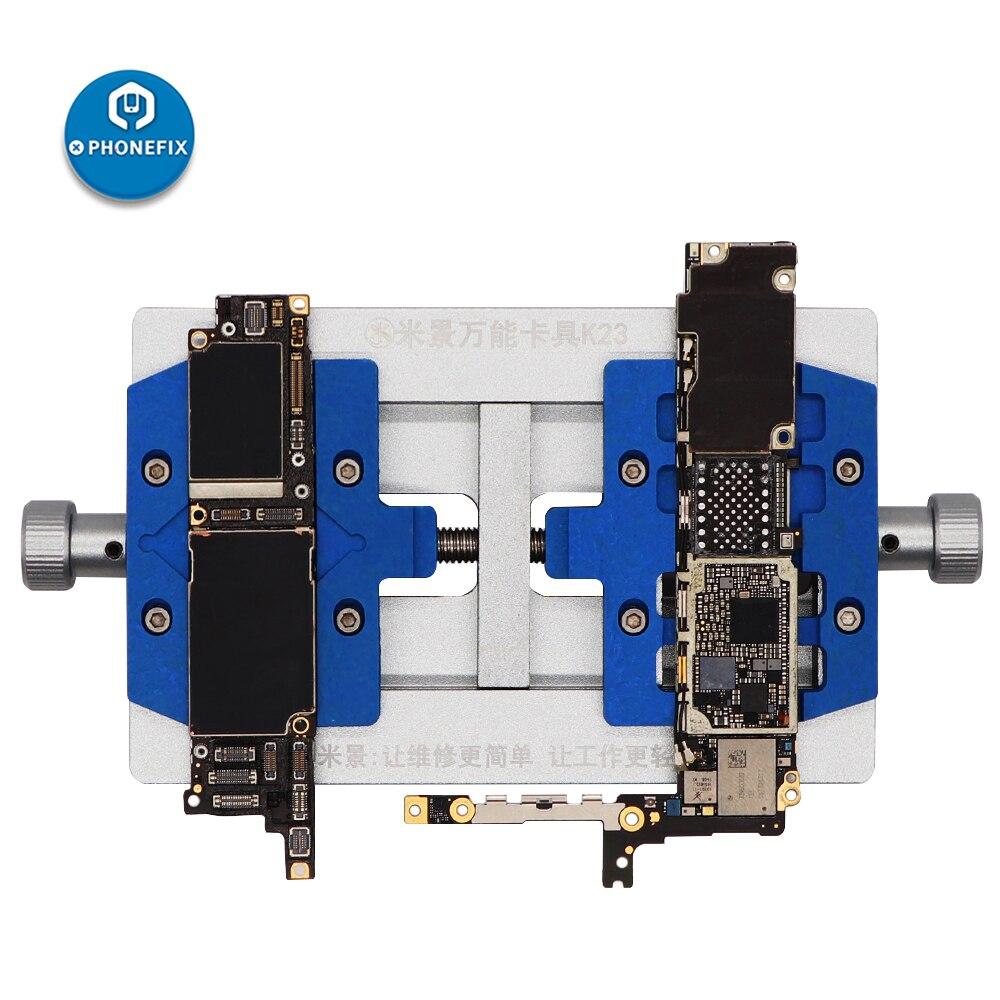 MJ K23 Dual Shaft Universal Phone PCB Board Soldering Holder Fixture For IPhone Repair Soldeing Repair Tools