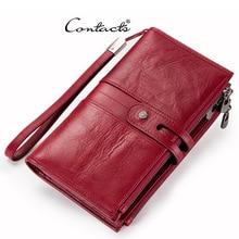 цены Genuine Leather Men Clutch Wallets Women Long Clutch Ladies Wallets Cowhide Multi-Card Bit Walet Women Phone Purse Money Vallet
