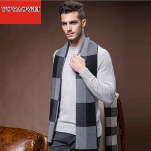 Plaid Scarf Matching Boyfriend Wool Thick-Color Winter Warm Gift Men Bib Precious Custom-Made