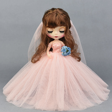 1pc very beautiful new clothes pretty dress doll accessory for Licca doll blyth doll lovely dress for blyth doll clothes christmas gift toy dress for blyth doll 1 6 30cm doll