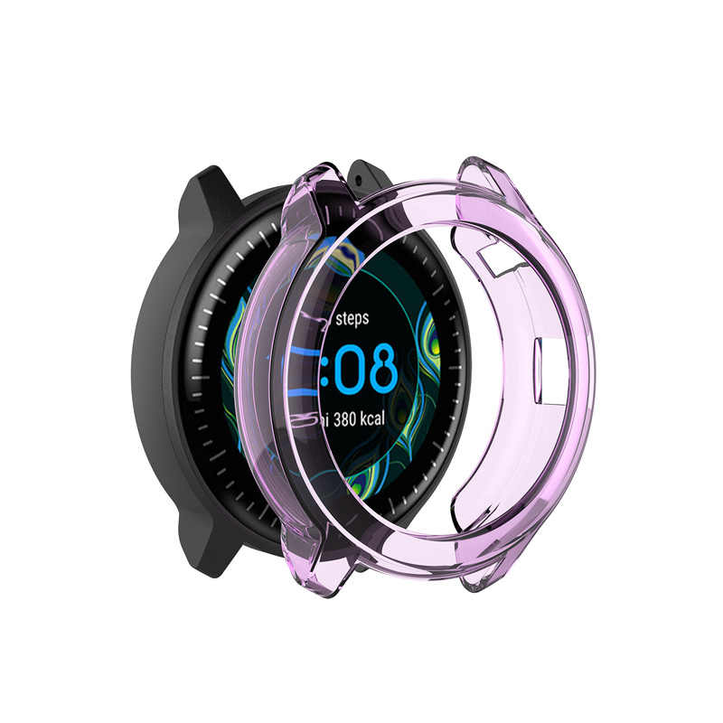 TPU funda protectora transparente marco Protector carcasa para Garmin Vivoactive 3 música reloj inteligente accesorios vestibles
