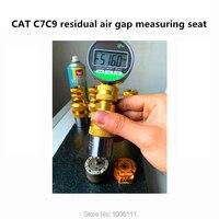 Para cat c7c9 diesel injector de trilho comum de ar residual ferramenta de teste medição lacuna assento ajuste arruela juntas