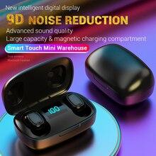 цена на TWS Finger Touch Bluetooth Wireless Earphones HIFI Stereo Wireless Headphones Noise Cancelling Gaming Bluetooth Headset E1