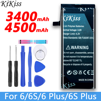 цена на Free tool KiKiss Battery For iPhone 6 / 6 Plus / 6S / 6S Plus Mobile Phone Replacement Batery For Apple iPhone 6/6plus/6S/6Splus