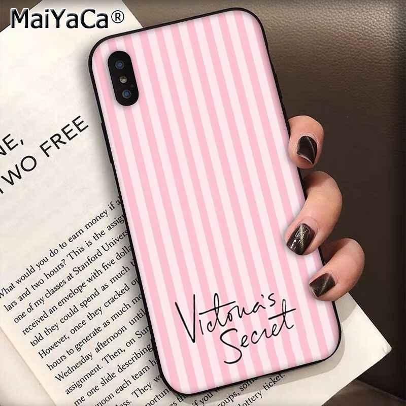 Maiyaca Hồng Tình Yêu Mới Hồng Đen Điện Thoại Ốp Lưng Dùng Cho Apple iPhone 11 PRO 8 7 66S Plus X XS Max 5 5S SE XR Trường Hợp