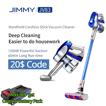 JIMMY JV83 135AW 2-in-1 Cordless Vacuum Cleaner Handheld on Sale with Powerful Suction Rechargeble Lithium VS JV53 No Tariff