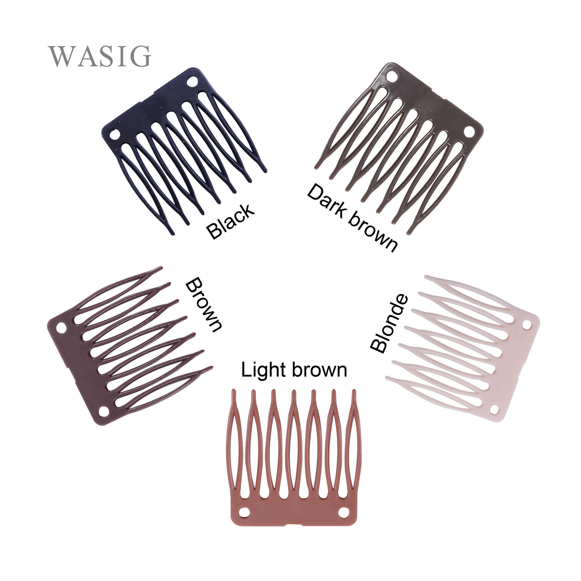 50 Pcs/lot Plastic Wig Clips And Combs For Making Wigs Full Lace /lace Front Black Brown Color Many In Stock Wholesale