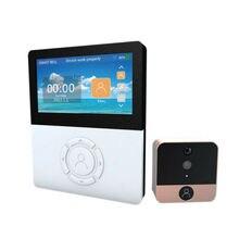 """1MP WiFi цифровой глазок 4,"""" экран дверная камера ИК инфракрасный видео разговор"""