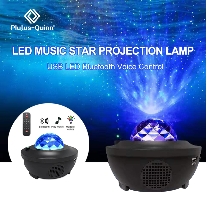 Party Colorful Ocean Projector LED Night Light Bluetooth USB Voice Control Music Player Romantic Star Projection Lamp Gift
