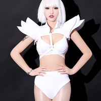 New Roupa Feminina Women Cosplay Metroid Prime Festival Outfit White Nightclub Wear Bar Rave Clothes Bar DJ Stage Costume BL2052