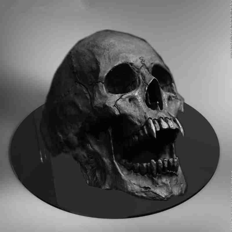 Vampire Skull Open Jaw Ring 2