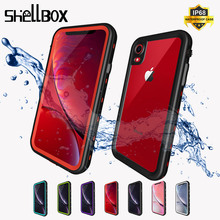 SHELLBOX מקרה עמיד למים עבור iPhone 11 X XR XS מקסימום עמיד הלם שחייה סיליקון Coque כיסוי עבור iPhone 7 8 בתוספת מתחת למים מקרה