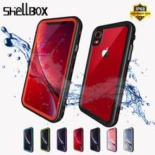 Shellbox防水ケースiphone 11 × xr xs最大耐衝撃水泳シリコーンcoque iphone 7 8プラス水中ケース