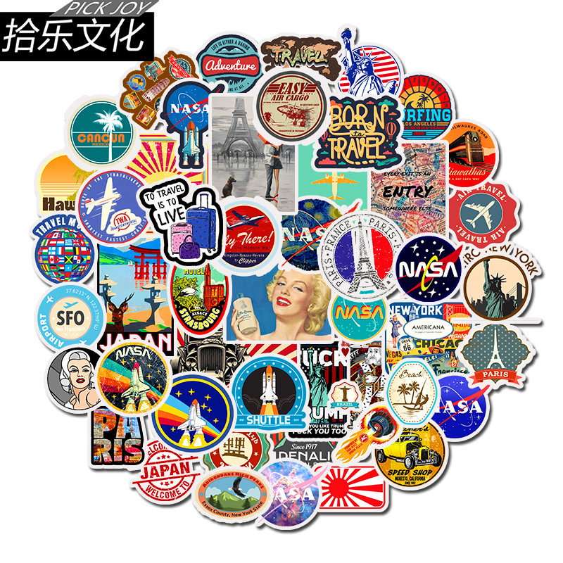 Sticker Diary Sticker Travel Sticker Landscape Sticker Computer Sticker Suitcase Bicycle Sticker Note Sticker 50PCS MTZ131-67