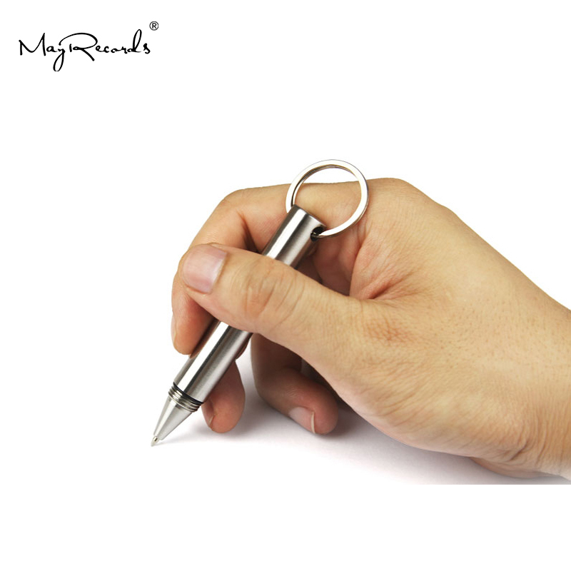 Mini Portable Stainless Steel Tactical Pen Self Defense Tool Girls Keychain Pen Survival Supplies