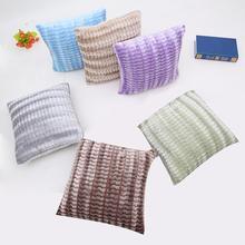 Nordic Solid Cushion Cover Soft Plush Striped Pillowcase Sky Blue Grey Cushions Home Decor Sofa Throw Pillow Cover Capa Almofada цены