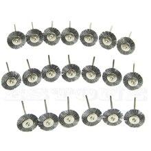 цена на 20PCS Stainless Steel Wire Wheel Brush Cleaner Grinding Polishing Rotary Tool