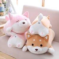 36/55 bonito e gordo shiba inu cão brinquedo de pelúcia recheado macio kawaii animal dos desenhos animados travesseiro adorável presente para crianças do bebê boa qualidade